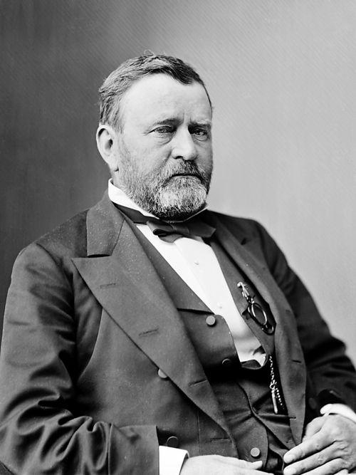 President Ulysses Grant seated