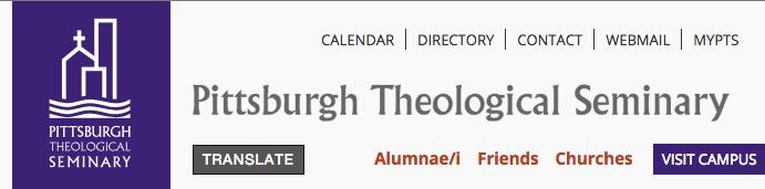 Pittsburgh seminary banner